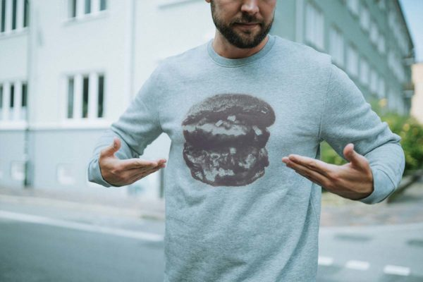 Hamburger Sweatshirt i grå