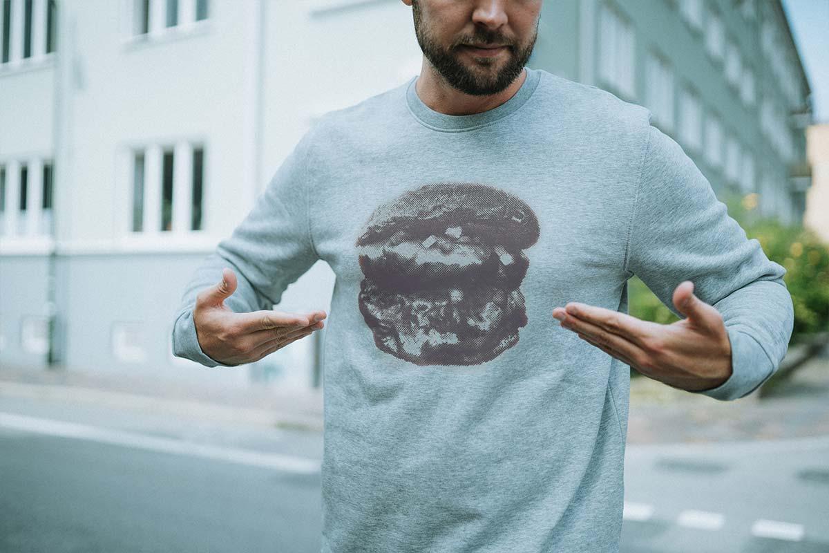 Hamburger Sweatshirt i grå